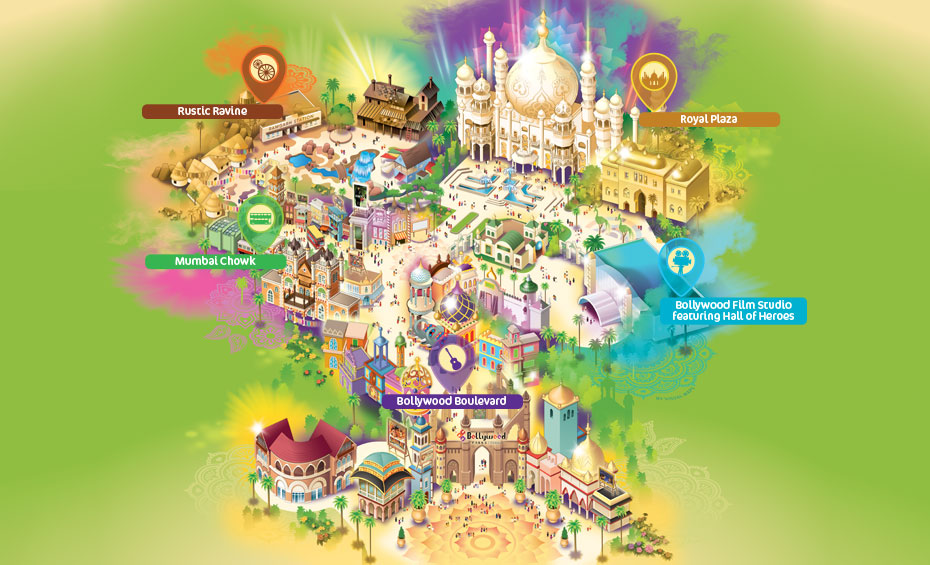 Bollywood park map